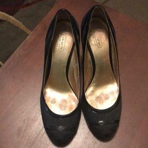 "Coach wedge dress shoes ""Like New"""